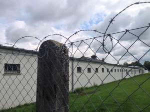 The fence that kept Dauchau prisoners in. Photo by G. Brown.