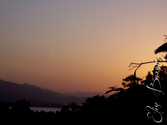 A sunset view from the villa where we stayed.