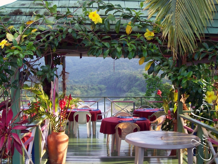 The setting for breakfast.