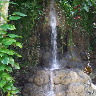 Waterfall at a park.