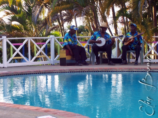 On the last night we were at the villa, we were serenaded by a band.