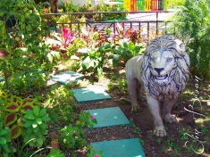 The Lion of Judah, a statue at Bob Marley's house and a part of Rastafarianism.