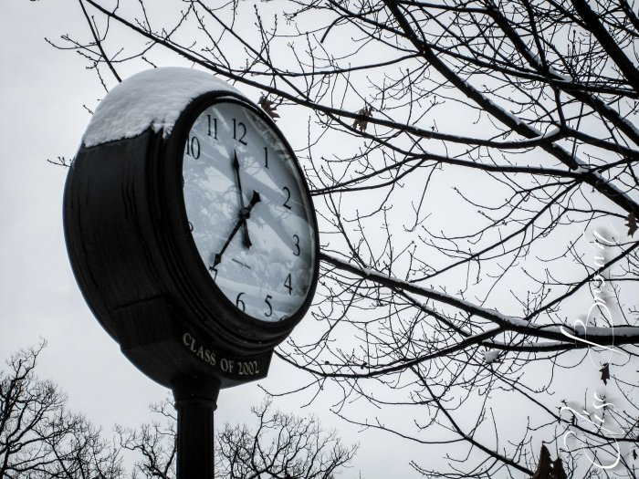 A Penn State clock. Time for class!