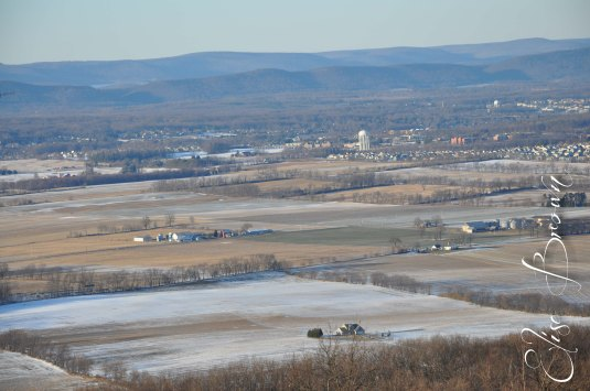 Happy Valley, PA, under the snow.