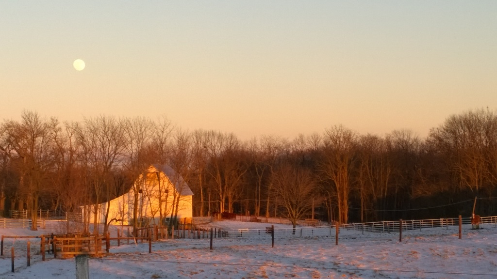 Full Moon over the Barn