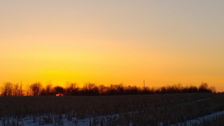 Sunset Feb. 3