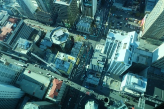 Looking down from the Sky Tower.