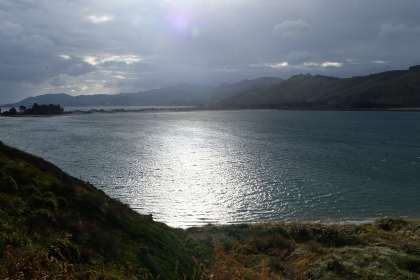 Looking back toward Dunedin from the Otago Peninsula.