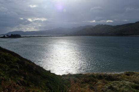 Looking back toward Dunedin from the Otago Peninsula.
