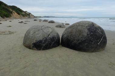 More of the Moeraki Boulders.