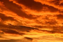 A Christchurch sunset, deep and beautiful after a rainfall.