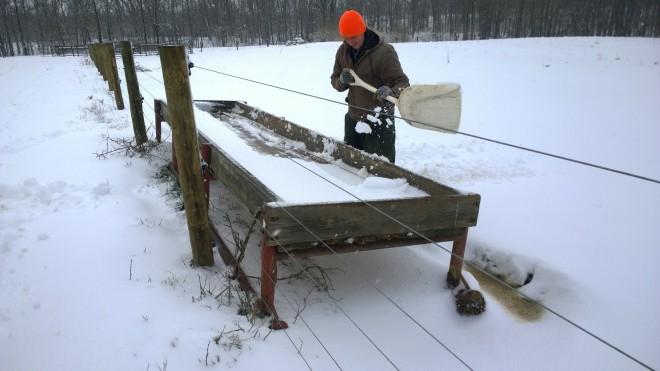 Snowy Adventure Dad Shovel